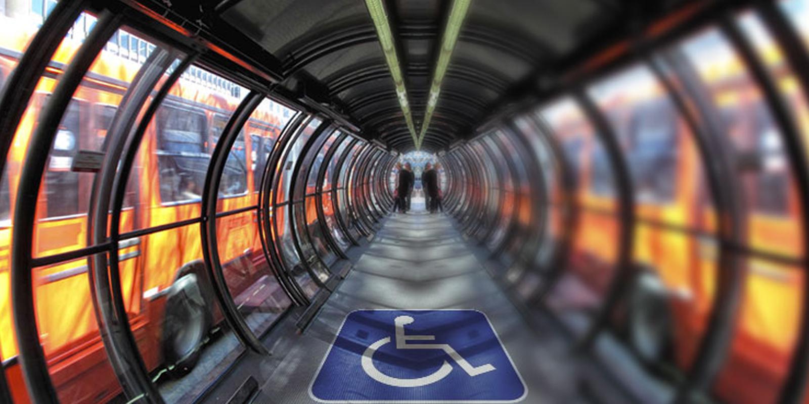 passarelas para deficientes físicos é uma melhoria na mobilidade urbana