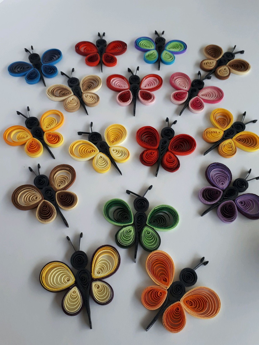 borboletas de quilling
