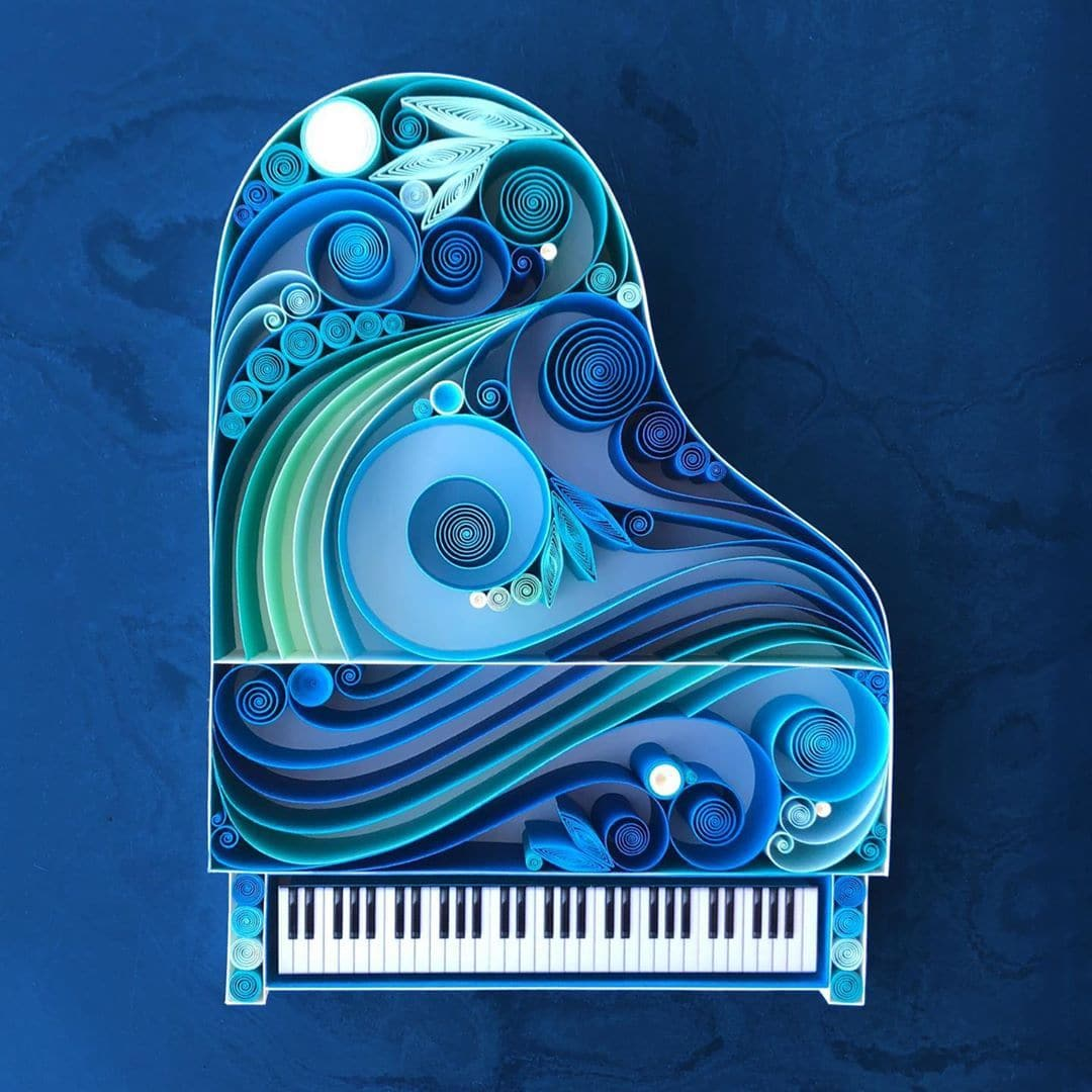 piano em quilling