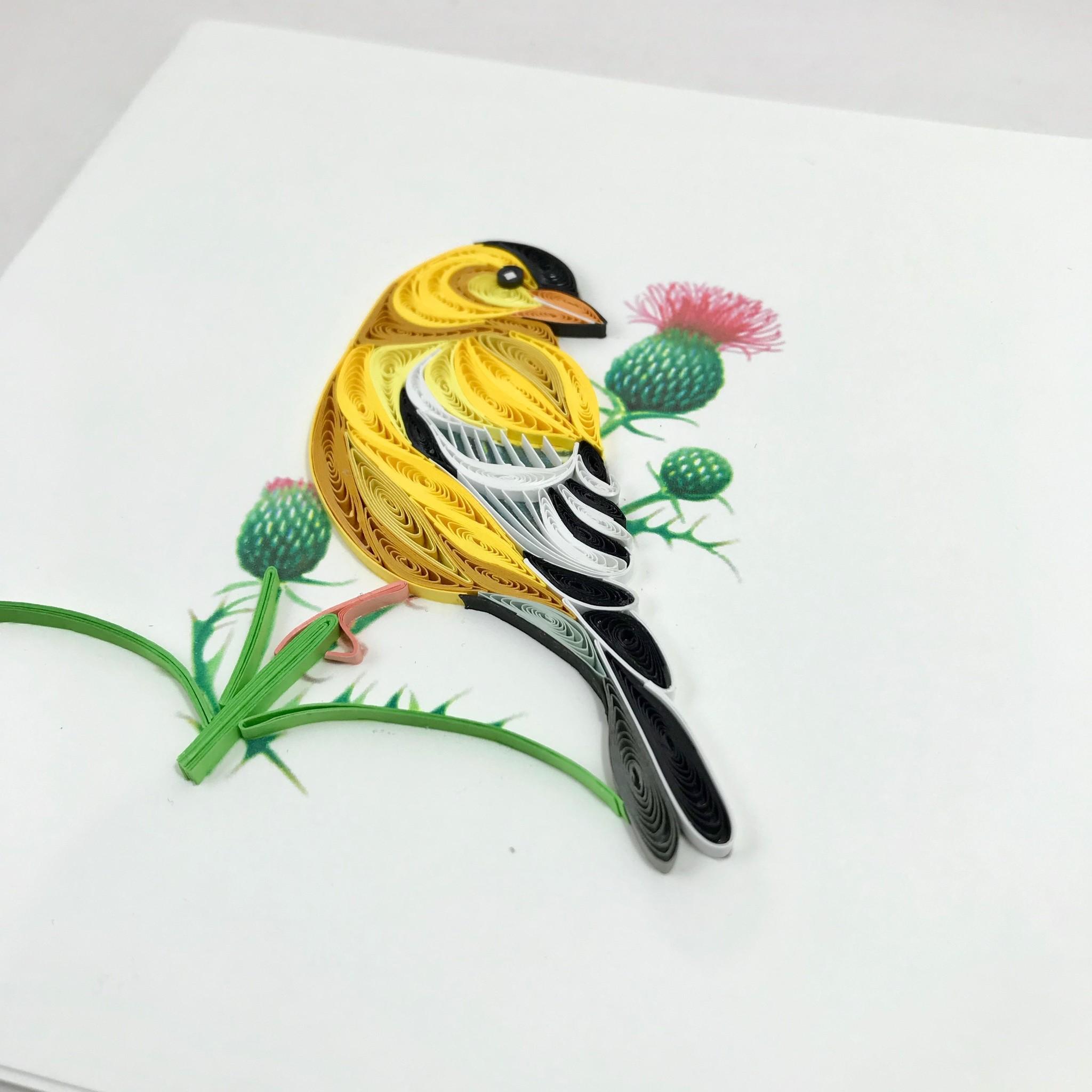 pássaro em quilling