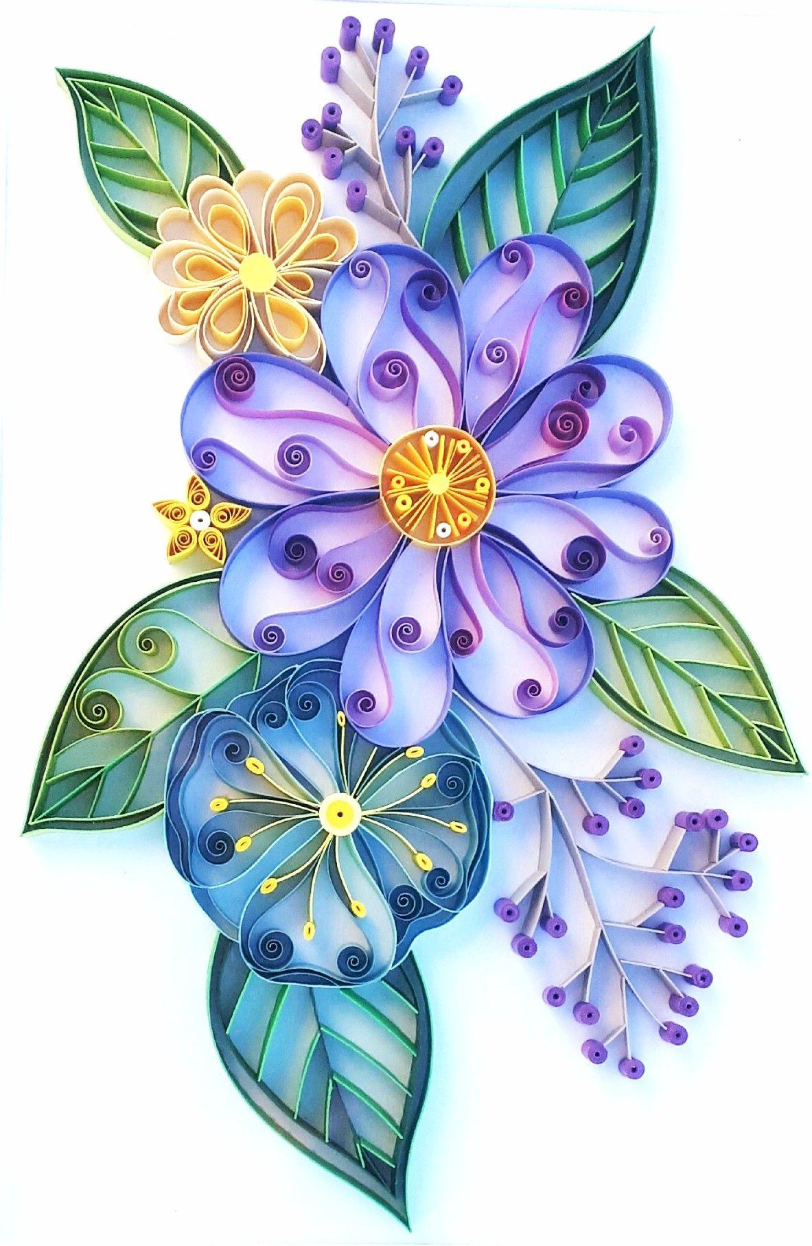 flores em quilling