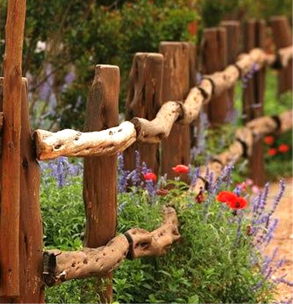 cerca madeira rustica