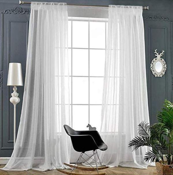 cortina voil branca