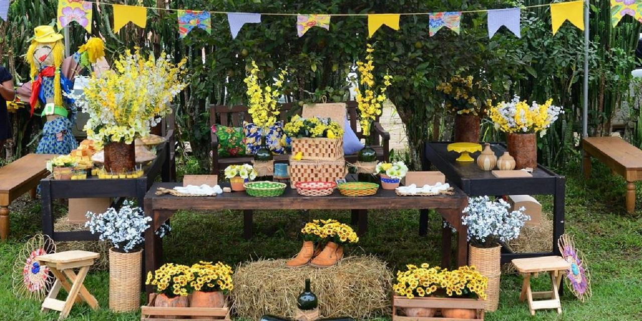 enfeites de festa junina: vime e palha