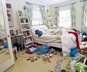 como arrumar quarto bagunçado