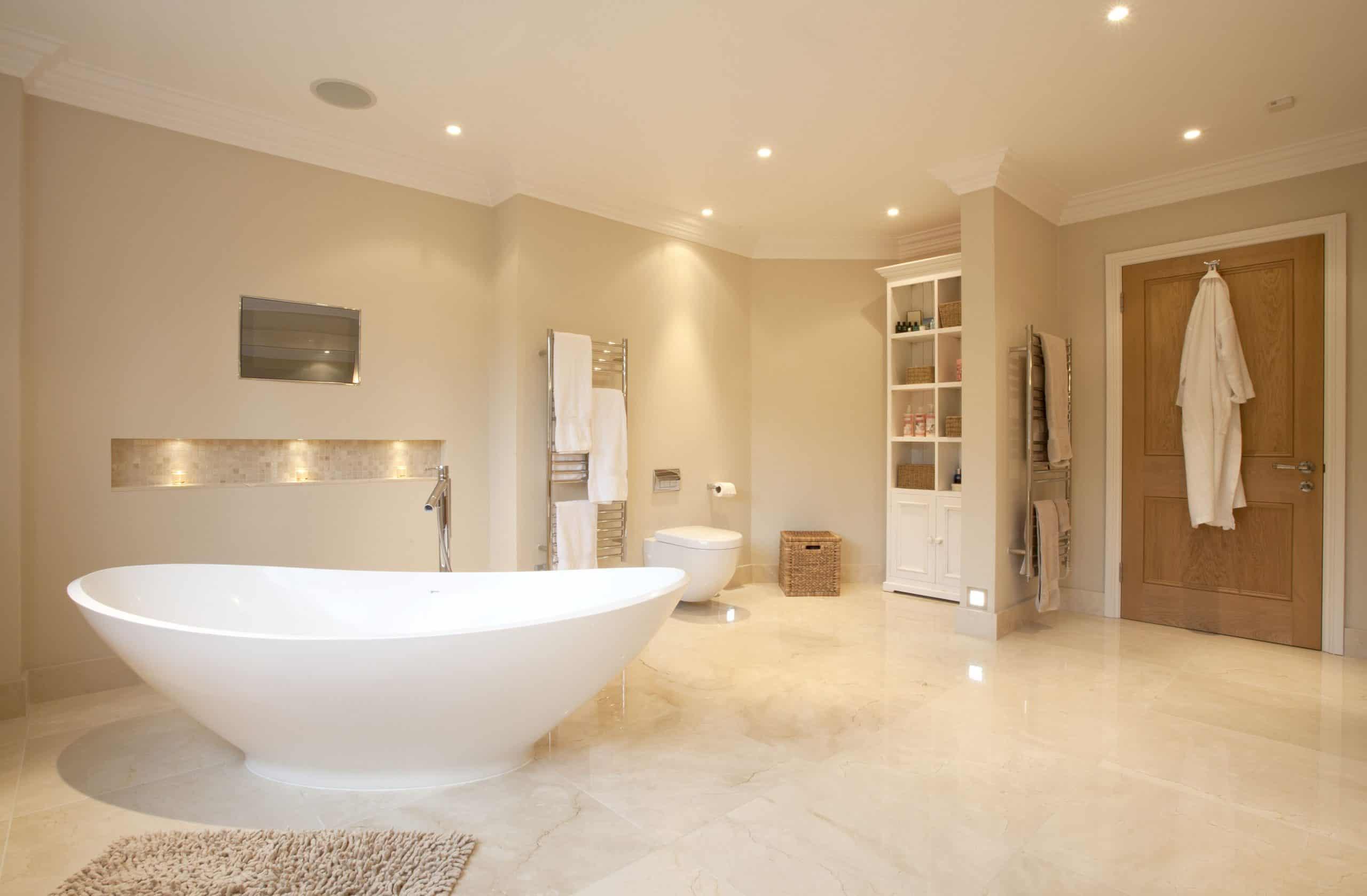 marmore crema marfil no banheiro