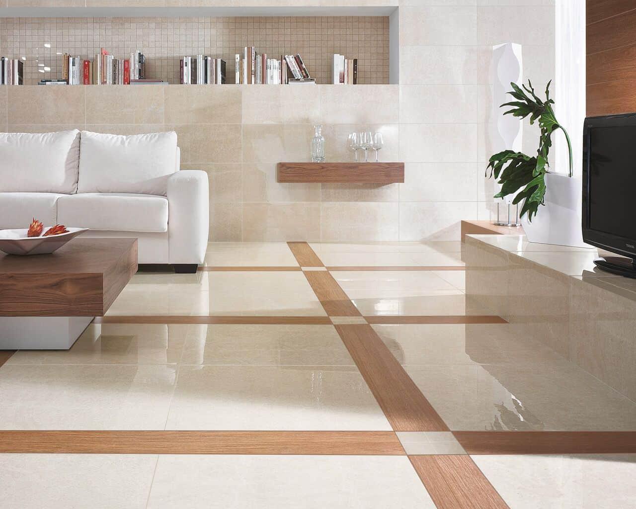 marble crema marfil na sala