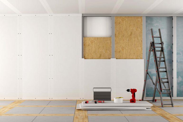 Espessura da parede de drywall