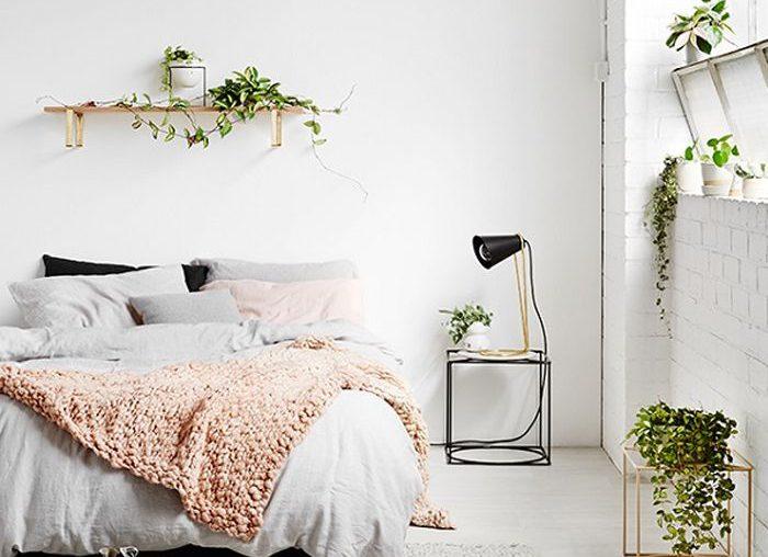 decoração clean quarto rosa