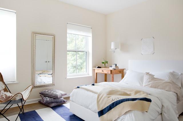 decoração clean quarto azul amarelo