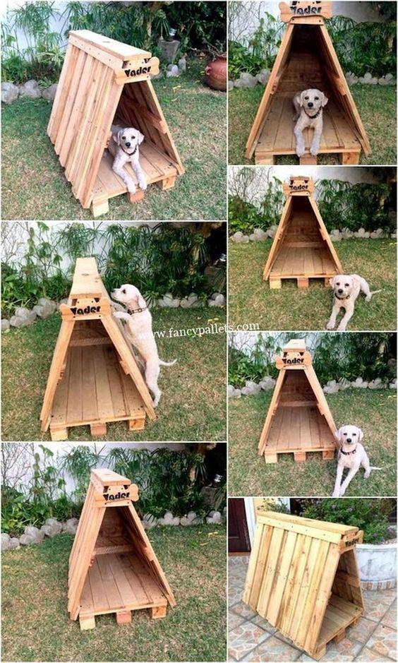 casa de palete para cachorro