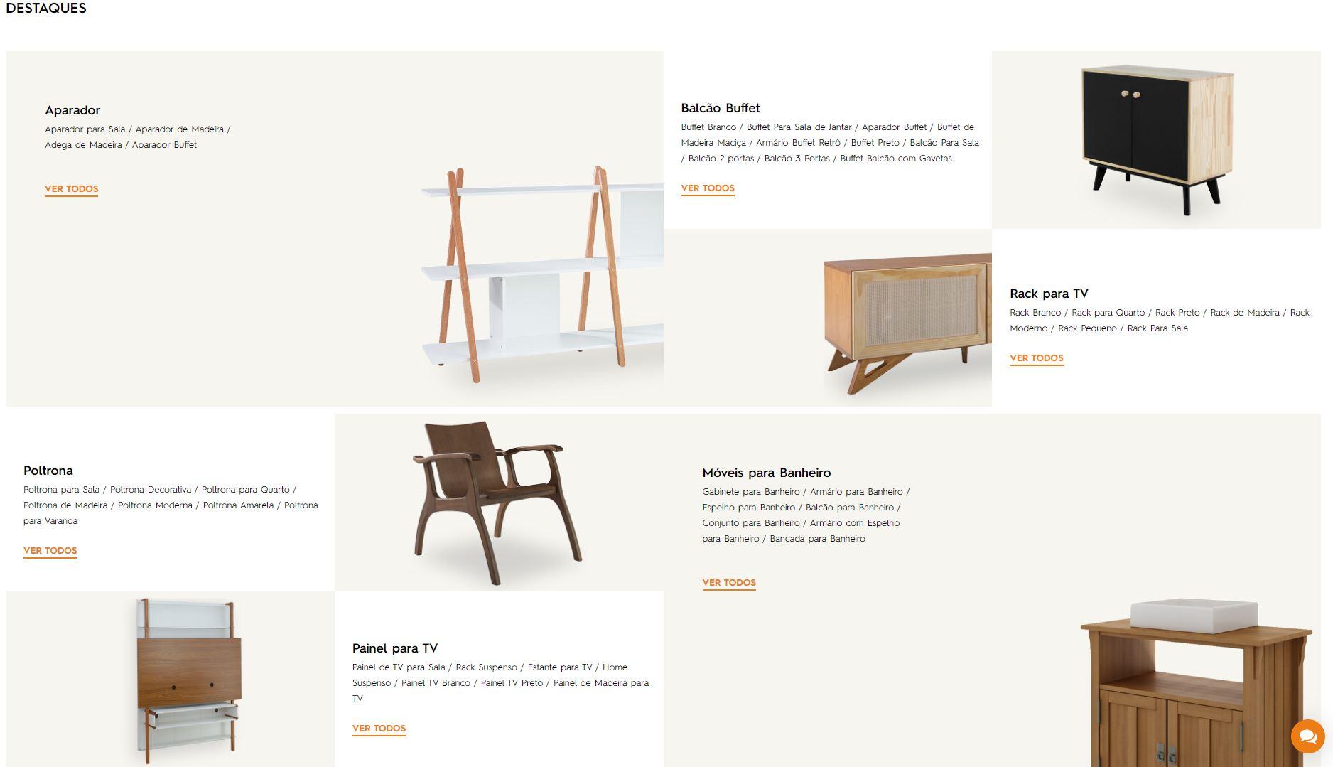 site para comprar moveis - IdeaStore