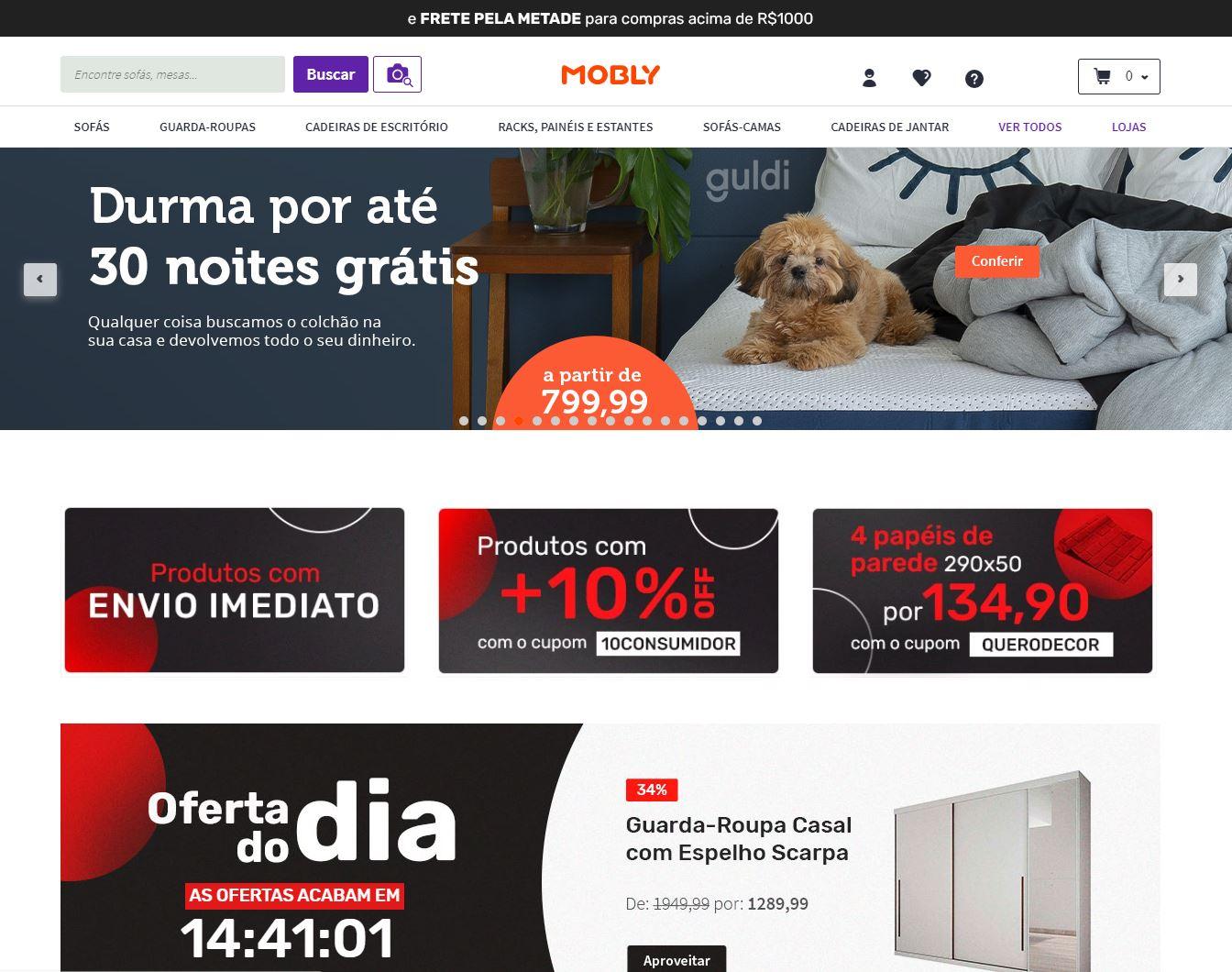 site para comprar moveis - Mobly
