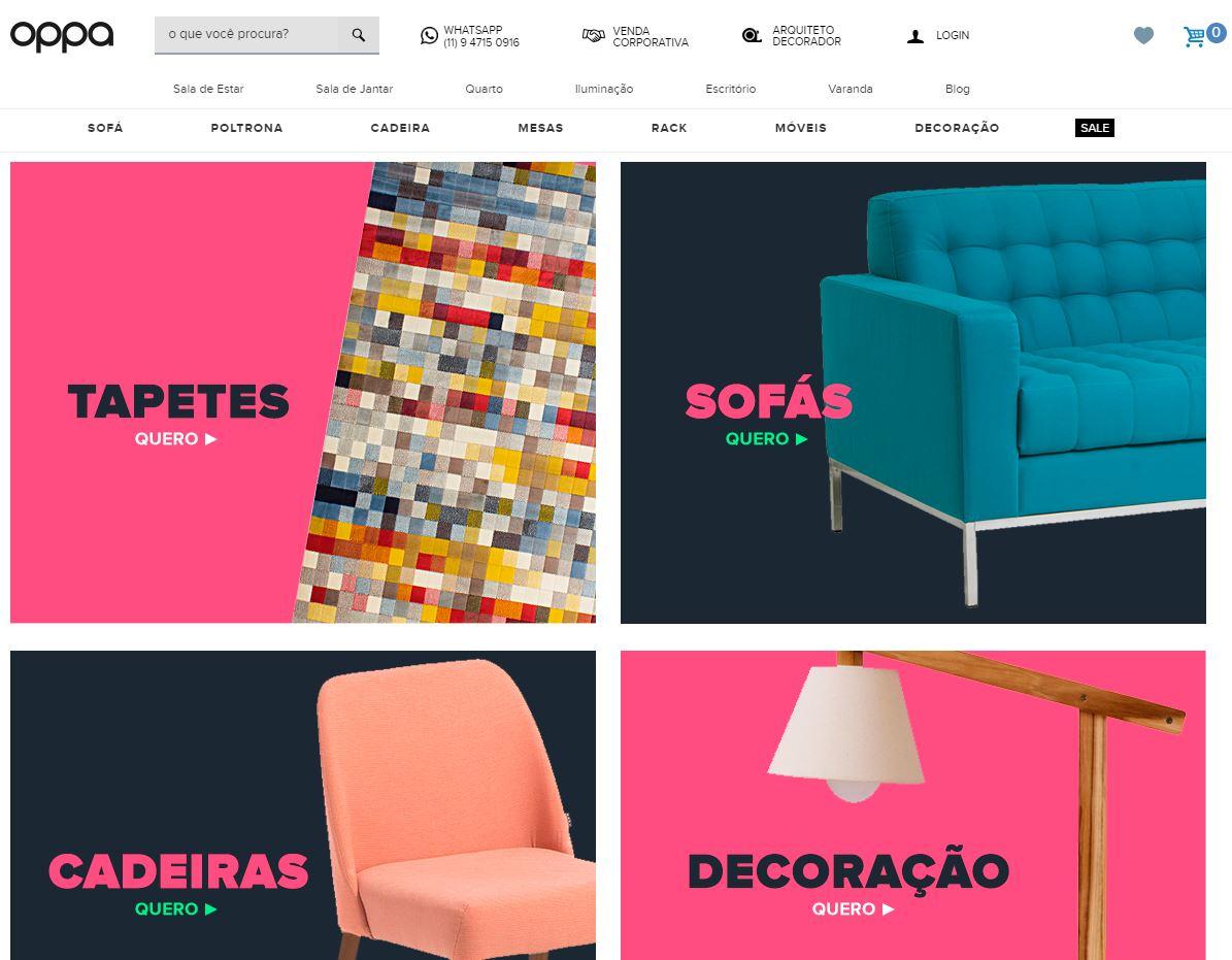 site para comprar moveis - Oppa