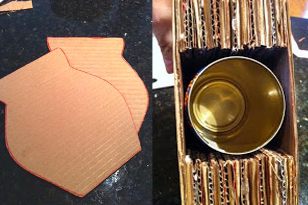 Tutorial vaso de papelão