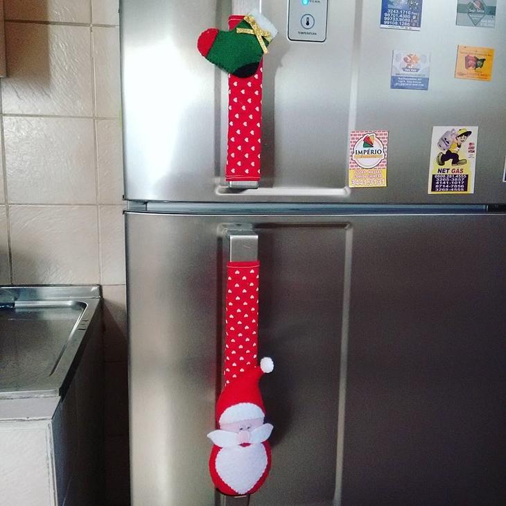artesanato de natal para geladeira
