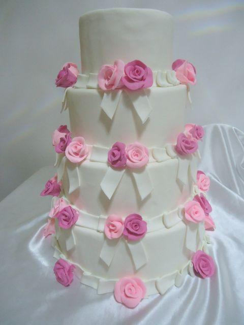 rosas no bolo