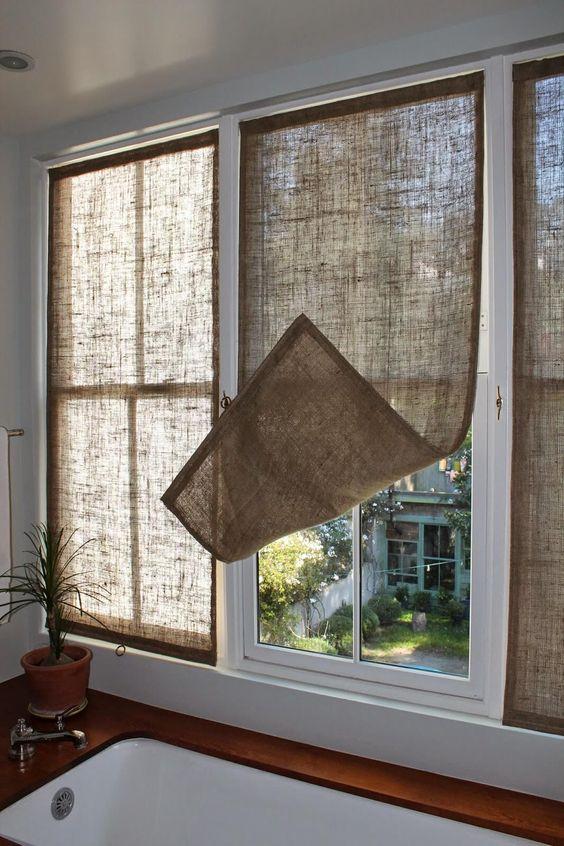 cortina de juta
