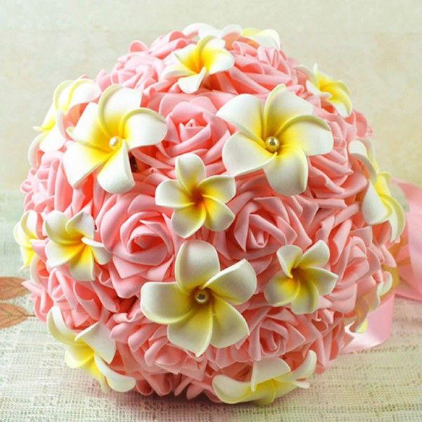 buquê de flor de biscuit