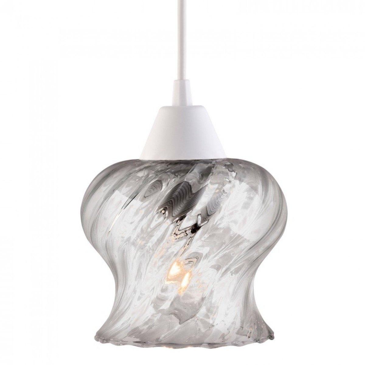 luminária de vidro canelado