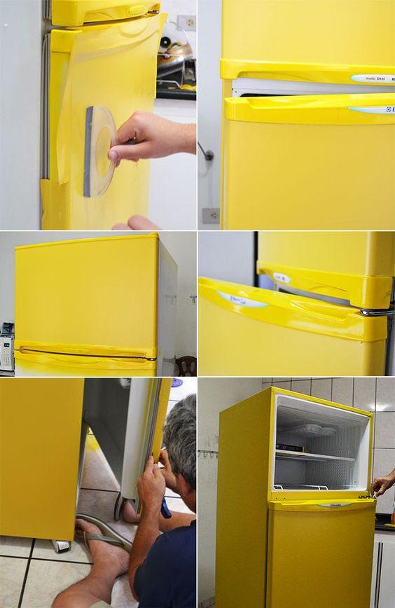 Como envelopar geladeira