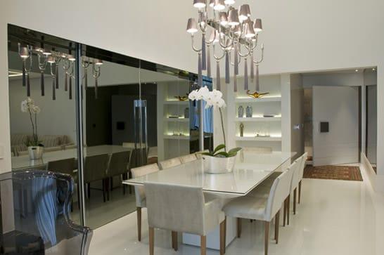 Espelho fume sala de jantar