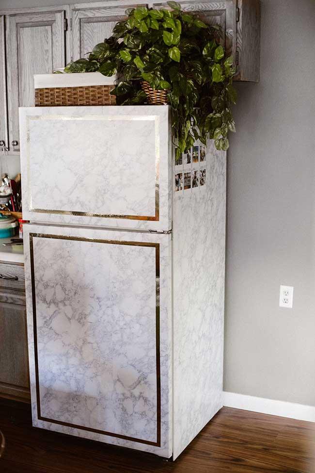 geladeira envelopada de luxo