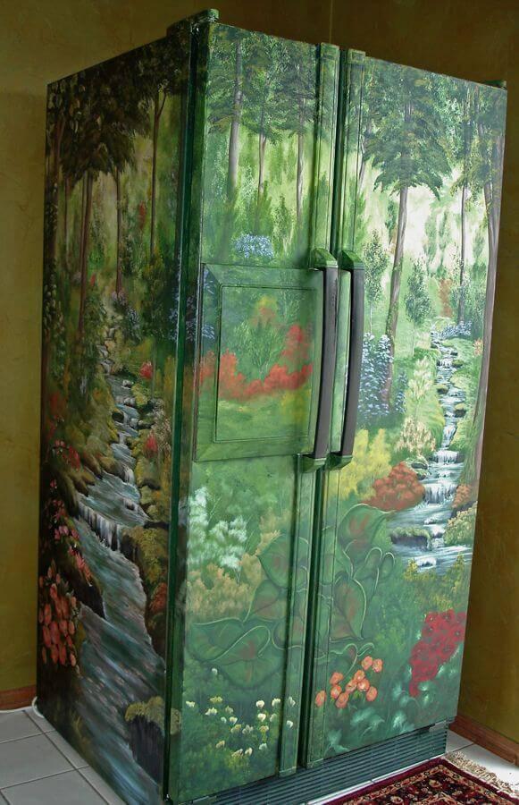 geladeira envelopada natureza
