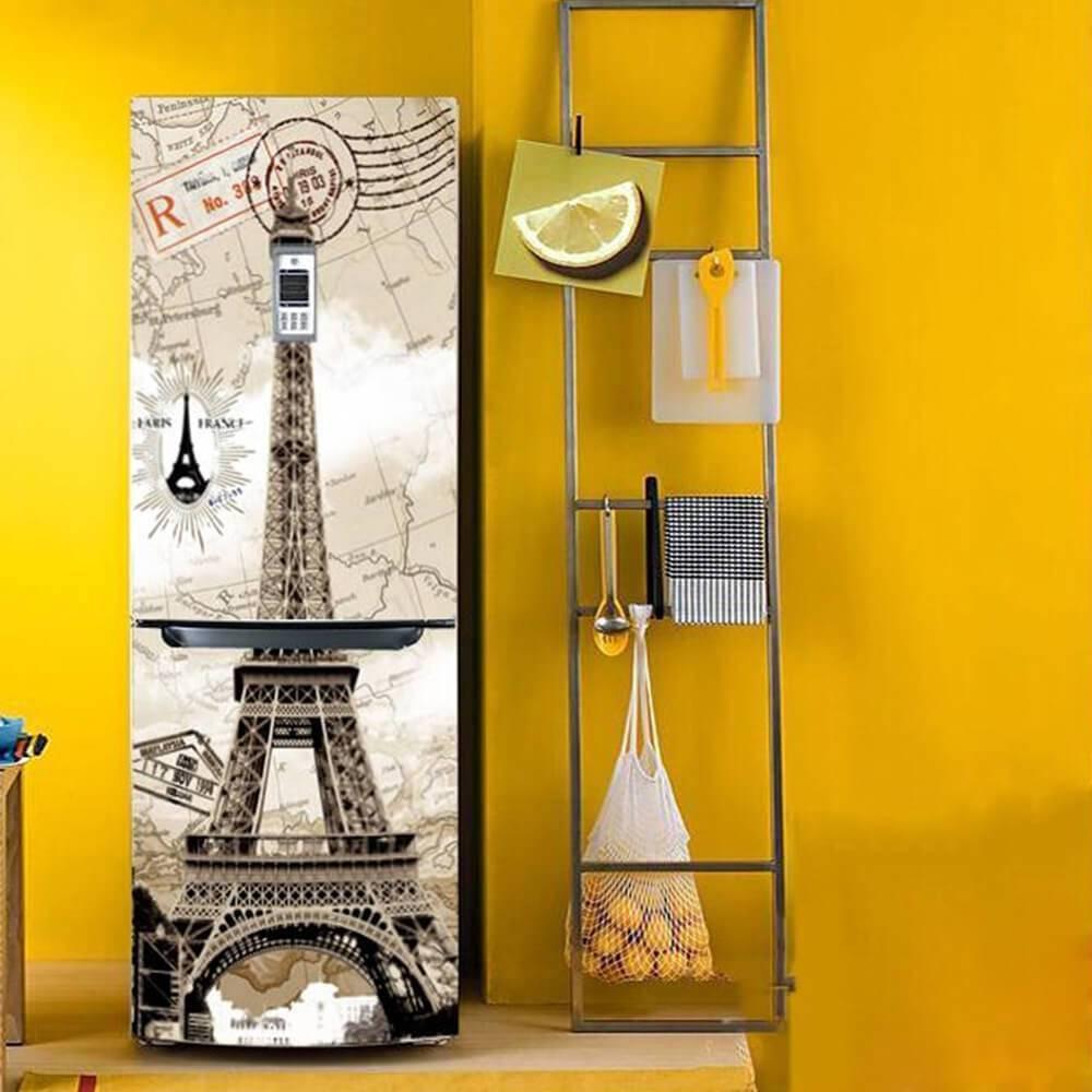 geladeira envelopada Torre Eiffel