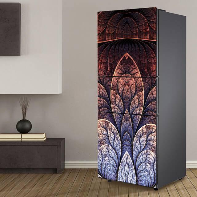 geladeira envelopada obra de arte