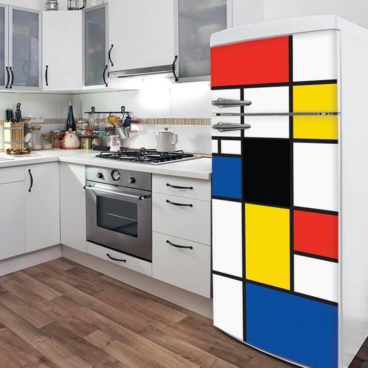 geladeira envelopada pintura
